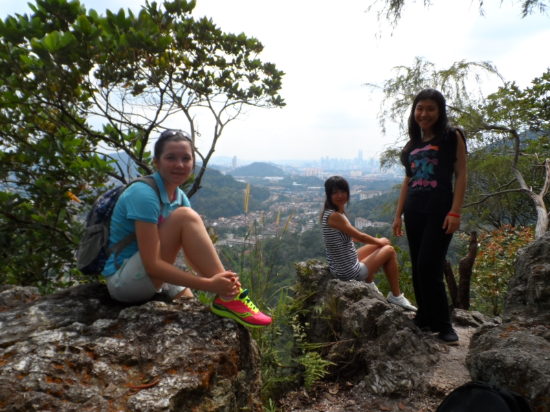 Mountain climbing in Malaysia with friends