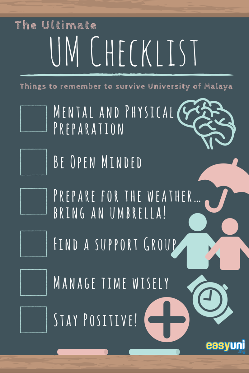 University of Malaya, UM, checklist, guide