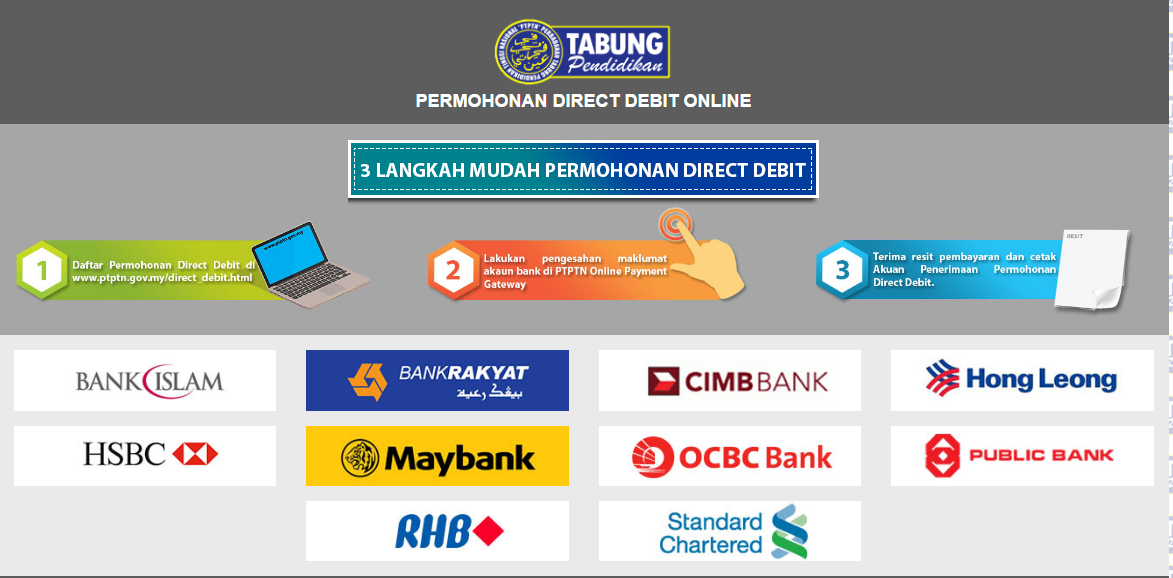 Your Guide to paying PTPTN through Direct Debit Method