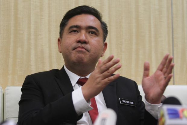 malaysia new minister of transport anthony loke siew fook